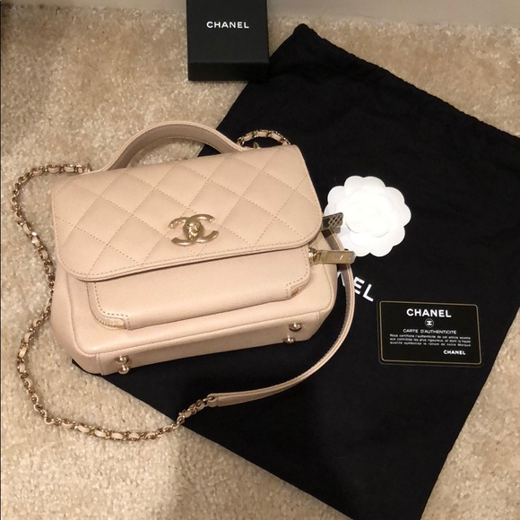 CHANEL Bags   Business Affinity Beige Crossbody New   Poshmark 44a45ef3e6